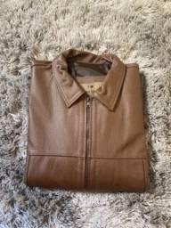 Jaqueta de couro legitimo masculina