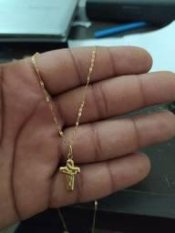 Vendo Corrente com pingente em ouro 18 modelo piestrane