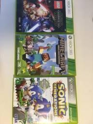 Usado, 3 jogos xbox 360 minecraf, star wars de lego e sonic generations comprar usado  Araranguá