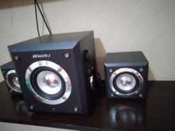 Caixa de som amplificadora para computador ou TV