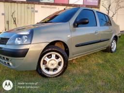 Renault Clio sedan ano 2004 completo raridade !