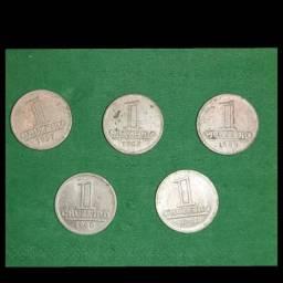 Para colecionadores ( Lote c/ 5 moedas de alumínio )