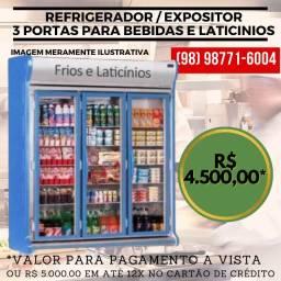 Freezer / refrigerador / expositor 3 portas