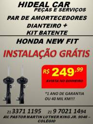 Par de amortecedores dianteiro do New fit com kit batente instalados.
