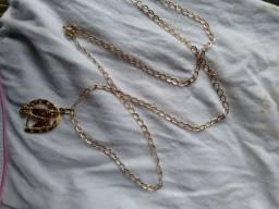 150 Cordao Foleado a Ouro Barato
