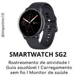 Smartwatch SG2   Tela Amoled   Preto   Película de brinde