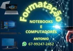 Título do anúncio: Formatação de Notebook e Computadores