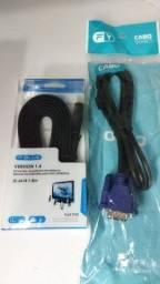 Título do anúncio: Cabo HDMI e Cabo VGA