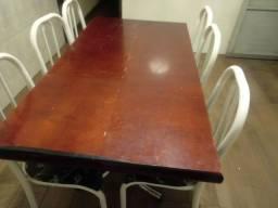 Título do anúncio: Mesa de compensado com 6 cadeiras apenas 300 reais