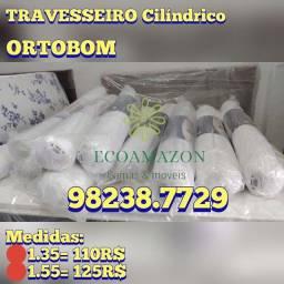 Título do anúncio: Travesseiros Cilíndricos *Ortobom // Ultimas unidades