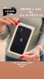 iPhone 11 Lacrado 1 -ano de garantia Apple nota fiscal/Nfce 64Gb e 128Gb
