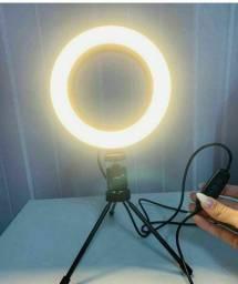 Ring light 6 polegadas 16 cm com tripé de mesa