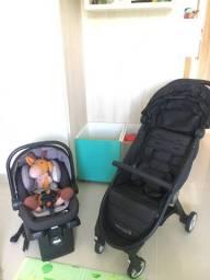 Carrinho de bebê importado Baby Jogger até 15kg com bebê conforto e base para carro