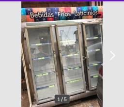 Expositor refrigerador três portas valor 2.500