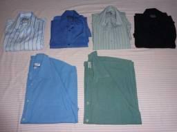 Pacote 6 Camisas Sociais - Seminovas - Excelente Qualidade