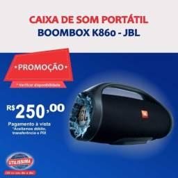 Caixa de Som Portátil Bluetooh Boombox k860 ? Entrega grátis