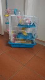 Gaiola de Hamster 3 Andares Completa