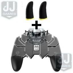 KIT Gamepad Controle AK66 4 Gatilhos + Luva de Dedo Gamer.