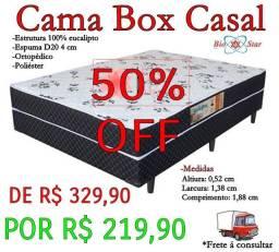 Cama box casal na promoção 50%off