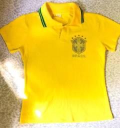 Camisa polo seleção brasileira (fem)