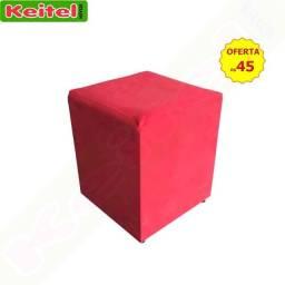 Puff Tecido Vermelho