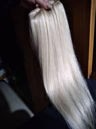 Mega hair loiro 60cm/cabelo 100% humano