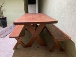 Título do anúncio: Mesa madeira Angelin pedra