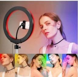 Anel de Iluminação Profissional RING LIGHT Multicolorido+ Tripé 2,10m!!!