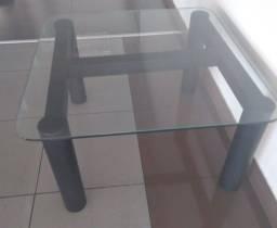 Mesa de centro - tampo de vidro
