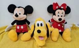 Mickey, Minnie e Pluto - bonecos originais em estado de novos