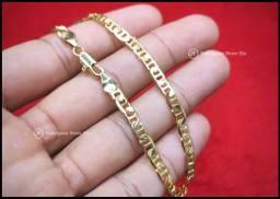 Pulseira modelo Piastrine banhada em Ouro 18k Novo