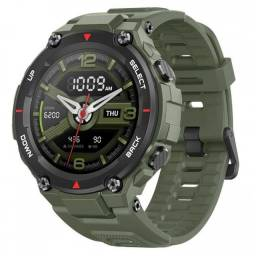 Relógio Smartwatch Amazfit Sport T-Rex army green de silicone A1919