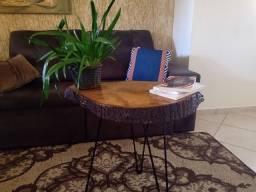 Madeira maciça, rústica, bolacha, mesa, mesa de apoio