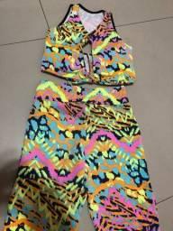 Título do anúncio: Roupa de malhar,  macacão e blusa