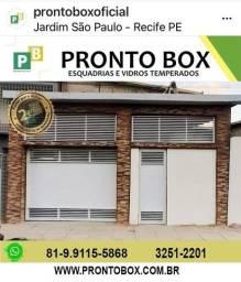 PORTÃO DE ALUMÍNIO PRONTO BOX LOJA DIRETO DE FÁBRICA
