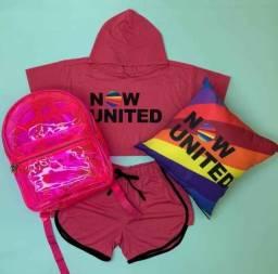 Kit Now United - Roupa + Mochila + Almofada