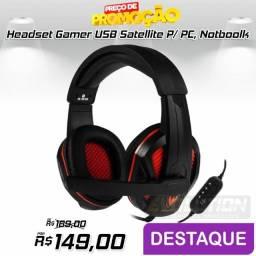 Headset Gamer Satellite AE-364u com microfone Aproveite