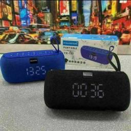 Caixa de Som Bluetooth Portátil H'maston YX-177 Com TWS, Relógio,FM