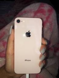 Título do anúncio: 1 IPhone 8 256gb preto e outro IPhone 8 64gb rose,Apenas venda !!!