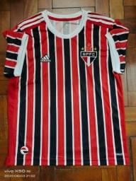 Camisa São Paulo Adidas Listrada Temp 21/22 Entrego