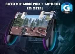 Kit Suporte Game + Gatilho transparente em mental Até 6.5 Polegadas