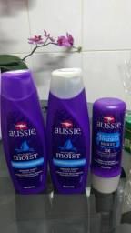 Kit Aussie shampoo condicionador e máscara