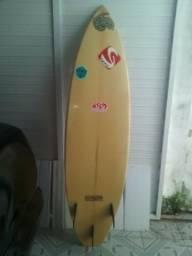 Prancha de Surf Hot Squash 6'0 com quilhas fixas e deck traseiro