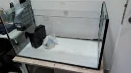 Aquário Retangular Completo de 80cm e 126L Aceito Cartão