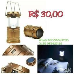 Lampião Luminária Lanterna Led