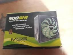Fonte 500w 80plus