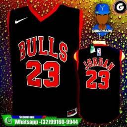 Camisa Nike Chicago Bulls Preta 23 Jordam Camiseta Regata Masculina 54a723e577c60