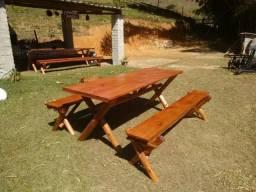 Promoção mesa de eucalipto