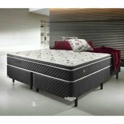 Colchão D45 linha platinum e cama box base bipartido promoção