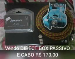 Direct box ( filtro de linha ) e cabo
